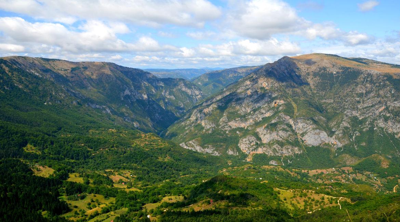 Гора Чупевац, вид на каньон Тары